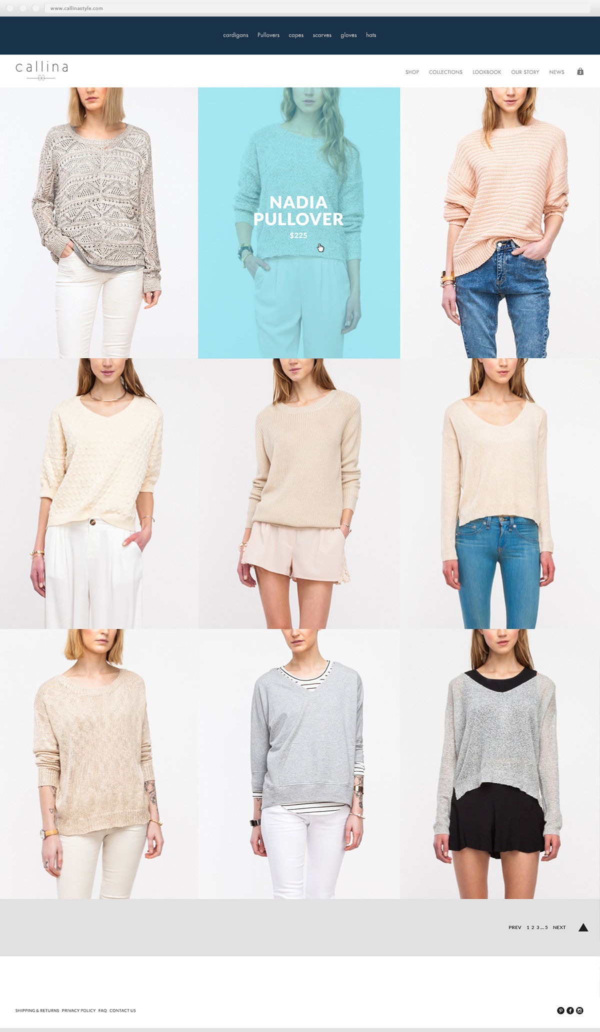Callina Collection Page